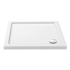 Aurora 900 x 900mm Anti-Slip Stone Square Shower Tray profile small image view 1