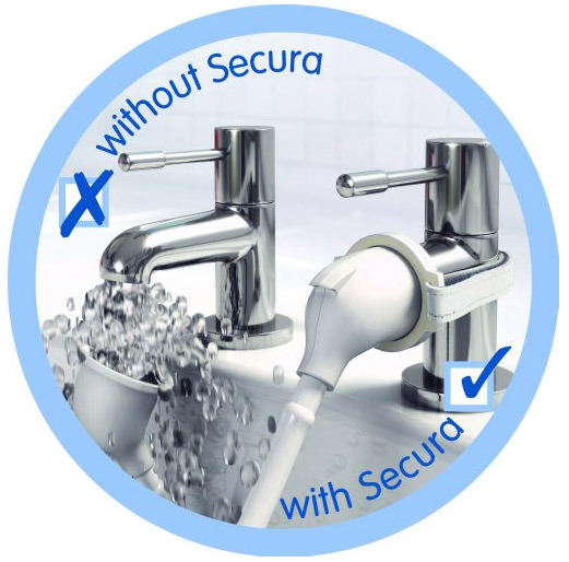 Croydex Secura Push-Fit Bath & Basin Shampoo Spray - White - AA107022 Profile Large Image
