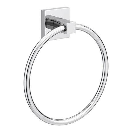 Milan Wall Mounted Towel Ring - Chrome
