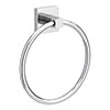 Milan Wall Mounted Towel Ring - Chrome profile small image view 1