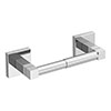 Milan Square Toilet Roll Holder - Chrome profile small image view 1