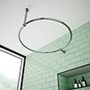 Chatsworth Traditional 850mm Chrome Double Support Circular Shower Curtain Rail profile small image view 1