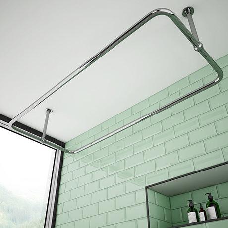 Chatsworth Traditional 1500 x 700mm Rectangular Shower Curtain Rail