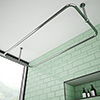 Chatsworth Traditional 1500 x 700mm Rectangular Shower Curtain Rail profile small image view 1