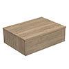 Arezzo Wall Hung Countertop Basin Shelf with Drawer - Oak - 600 x 450mm profile small image view 1