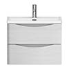 Alison Cork White Ash 600mm Vanity Unit & Basin - AC326 Small Image