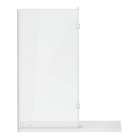 Alison Cork 1600 x 800mm Walk In Enclosure with Hinged Return & Tray - AC405