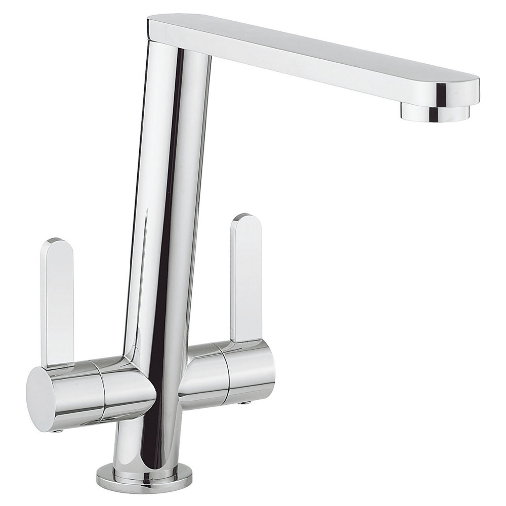 Crosswater - Cucina Acute Dual Lever Kitchen Mixer - Chrome - AC711DC Large Image