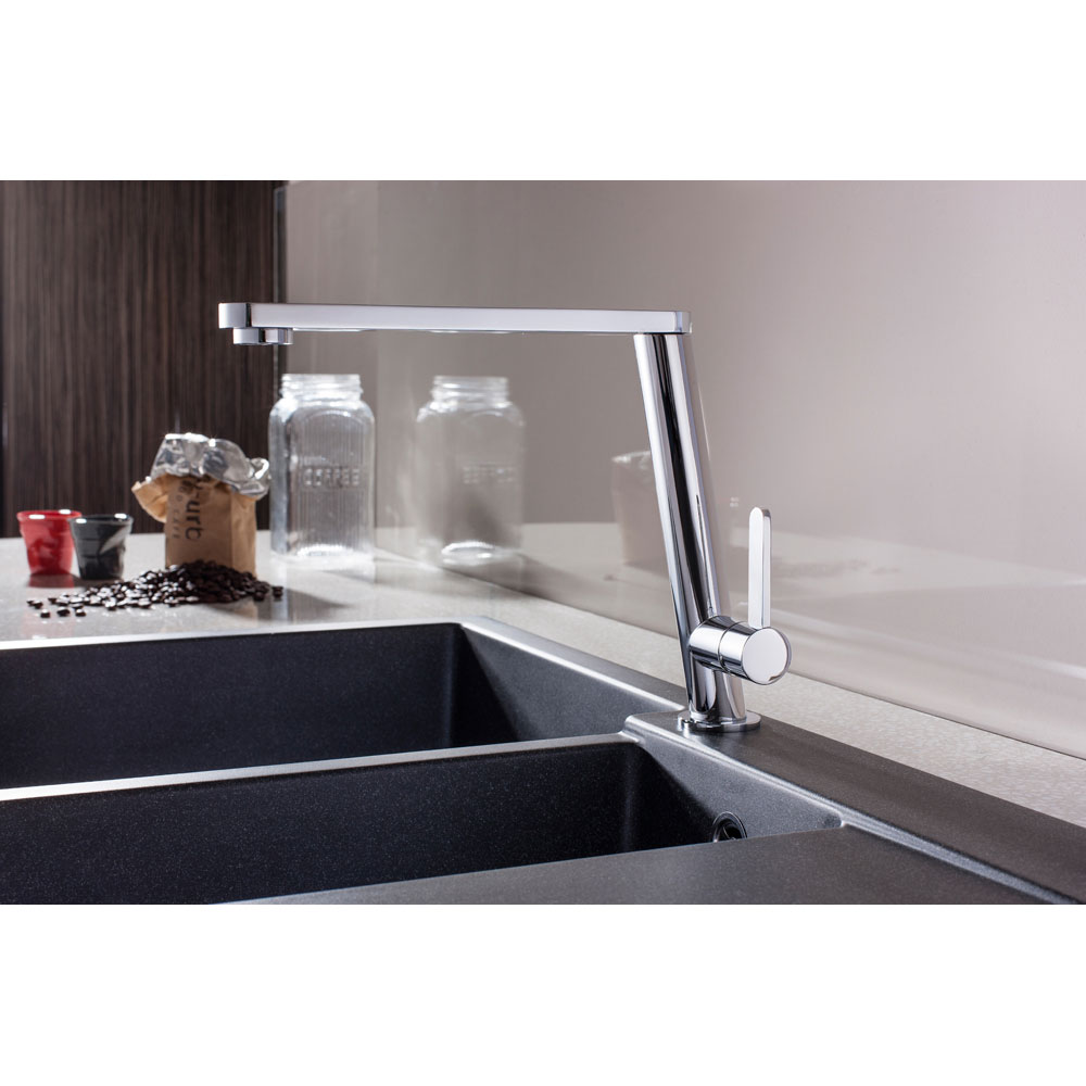 Crosswater - Cucina Acute Side Lever Kitchen Mixer - Chrome - AC714DC Profile Large Image