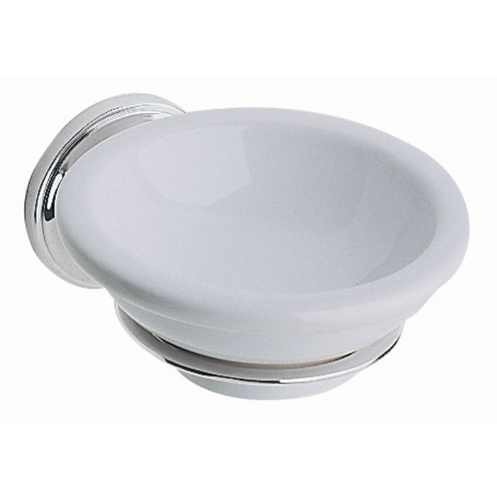 Heritage - Clifton Soap Dish & Holder - Chrome - ACC04 profile large image view 1
