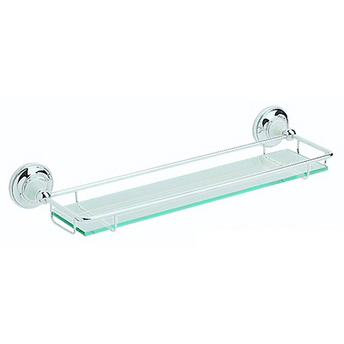Heritage - Clifton Glass Gallery Shelf - Chrome - ACC08 Large Image