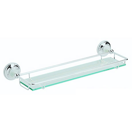 Heritage - Clifton Glass Gallery Shelf - Chrome - ACC08