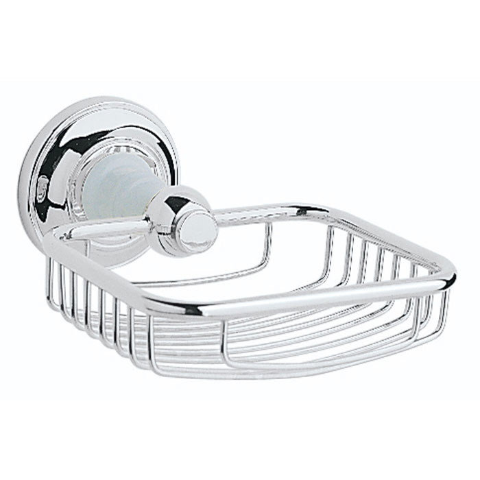 Heritage - Clifton Soap Basket - Chrome - ACC14 Large Image