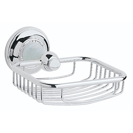 Heritage - Clifton Soap Basket - Chrome - ACC14
