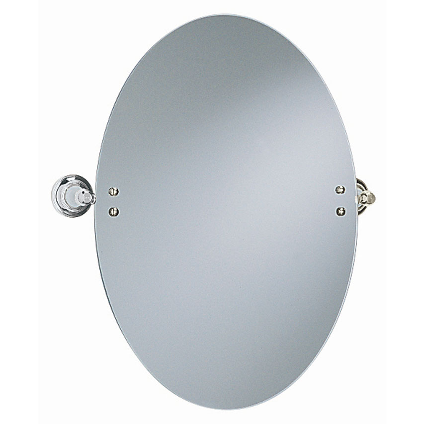 Heritage - Clifton Oval Swivel Mirror - Chrome - ACC17 Large Image