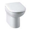 Alaska Comfort Height Back to Wall Toilet Pan + Soft Close Seat profile small image view 1