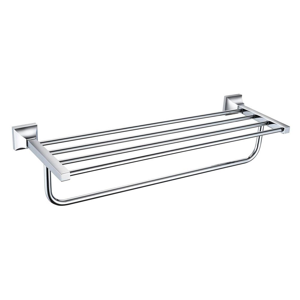 Heritage Chancery Double Bathroom Towel Shelf - Chrome - ACHDBTC profile large image view 1