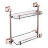 Heritage Chancery Double Glass Shelf - Rose Gold - ACHDGSRG Small Image