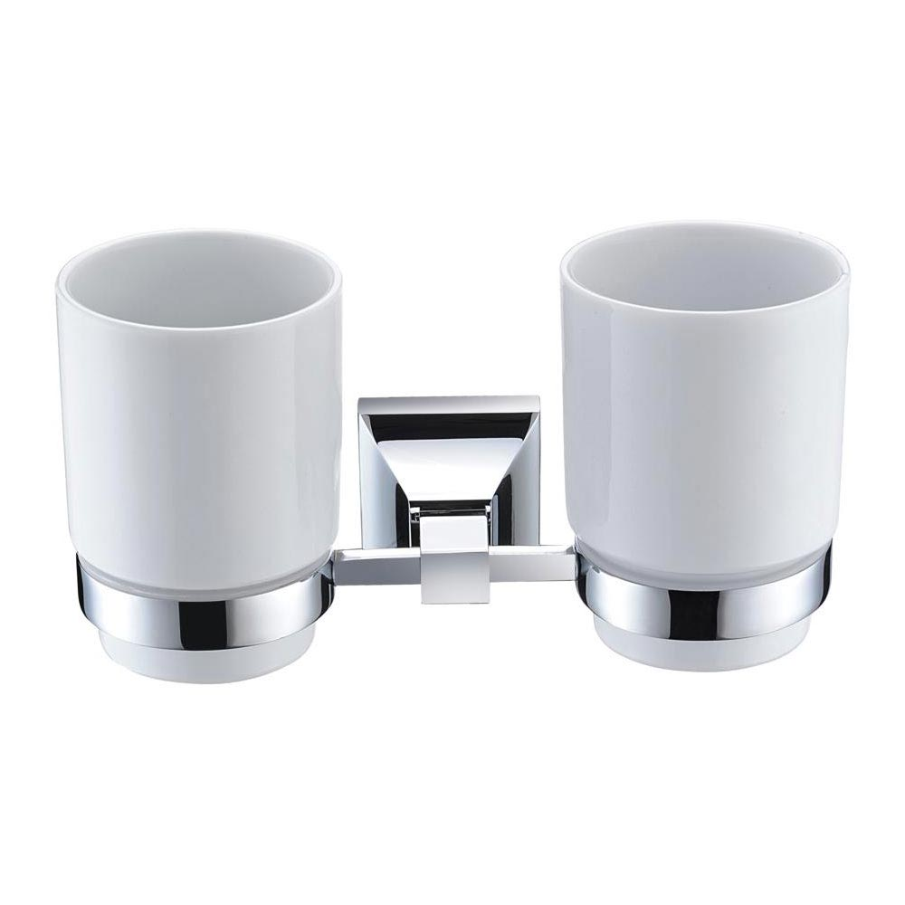 Heritage Chancery Double Tumbler & Holder - Chrome - ACHDTHC Large Image