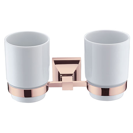 Heritage Chancery Double Tumbler & Holder - Rose Gold - ACHDTHRG