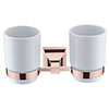 Heritage Chancery Double Tumbler & Holder - Rose Gold - ACHDTHRG profile small image view 1