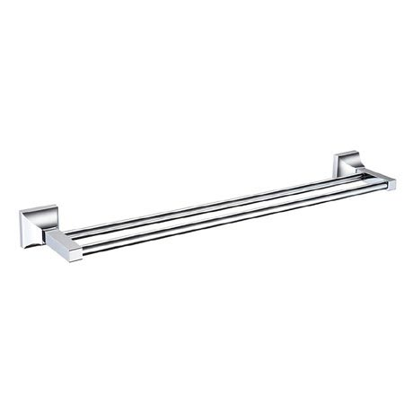 Heritage Chancery Double Towel Rail - Chrome - ACHDTRC