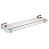 Heritage Chancery Single Glass Shelf - Rose Gold - ACHSGSRG profile small image view 1