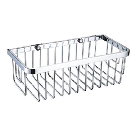 Heritage Rectangle Wire Basket - Chrome - ACOB01C