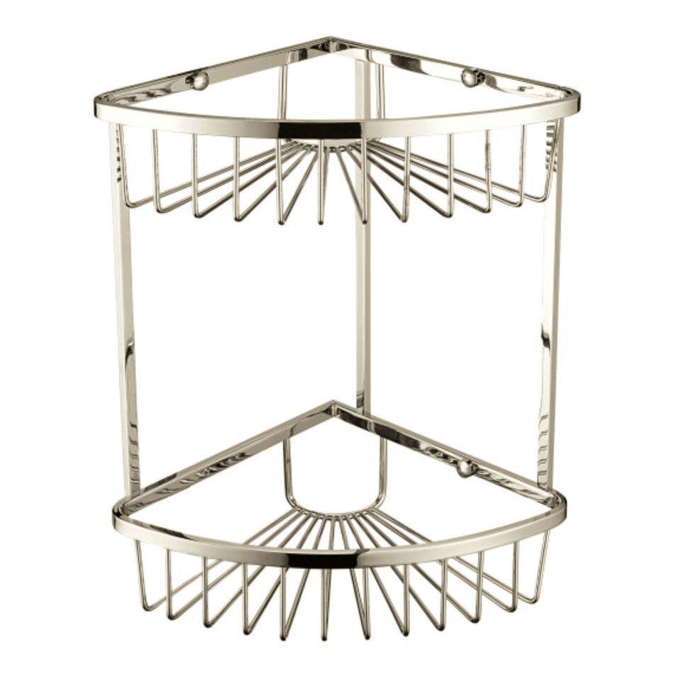 Heritage 2-Tier Corner Wire Basket - Vintage Gold - ACOB03G