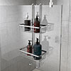 Alberta 2 Tier Hanging Shower Caddy - Chrome profile small image view 1