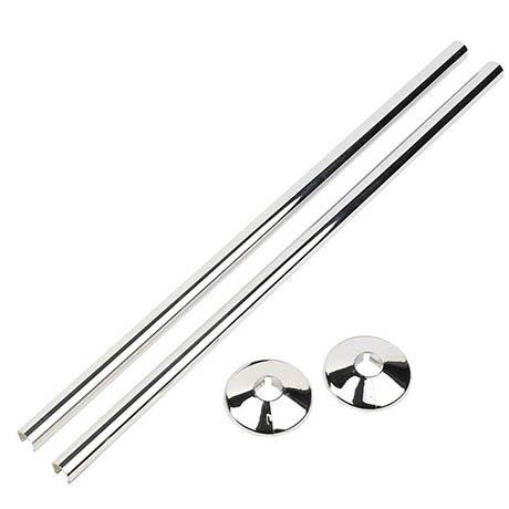 Talon Snappit Towel Rail Pipe Covers & Collars 500mm - Chrome - ACSNC/K1