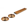 Talon Snappit Radiator Pipe Covers & Collars 200mm - Rose Gold - ACSNRG/K2 profile small image view 1