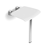 HiB White Shower Seat with Support Leg - ACSSWHI02 profile small image view 1