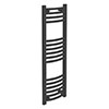 Diamond Curved Heated Towel Rail - W300 x H1000mm - Anthracite profile small image view 1