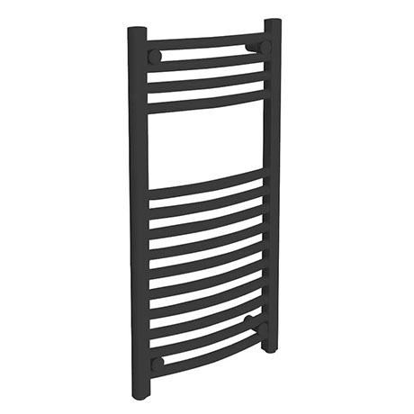 Diamond Curved Heated Towel Rail - W400 x H800mm - Anthracite