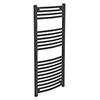 Diamond Curved Heated Towel Rail - W500 x H1200mm - Anthracite profile small image view 1
