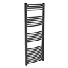 Diamond Curved Heated Towel Rail - W600 x H1600mm - Anthracite profile small image view 1