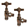 Antique Copper Traditional Angled Radiator Valves profile small image view 1