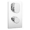 Amos Concealed Thermostatic Twin Shower Valve - Chrome Medium Image