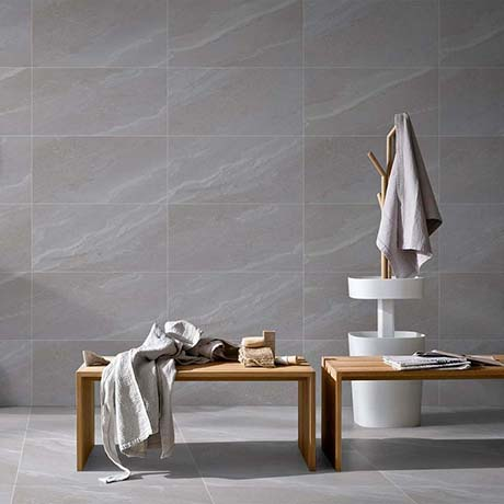 Acudo Stone Grey Effect Wall & Floor Tiles - 300 x 600mm