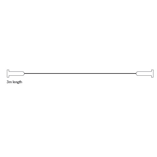 Croydex Contemporary Chrome Wireline Non-Hinged 3000mm - AD107041 Profile Large Image