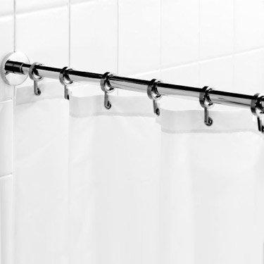 Croydex Contemporary Luxury Chrome Round Shower Curtain Rod - AD116541 Large Image