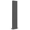 Urban 1800 x 300mm Vertical Double Panel Anthracite Radiator profile small image view 1
