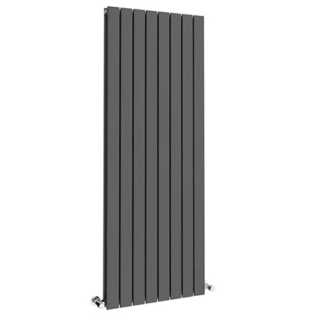 Urban 1800 x 600mm Vertical Double Panel Anthracite Radiator