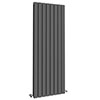 Urban 1800 x 600mm Vertical Double Panel Anthracite Radiator profile small image view 1