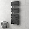 Delta Anthracite Designer Heated Towel Rail 1080 x 550mm profile small image view 1