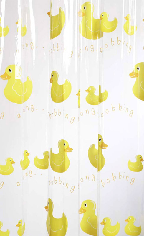 Croydex Bobbing Along PVC Shower Curtain W1800 x H1800mm - AE579925 profile large image view 1