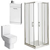 Pacific Corner Entry Shower Enclosure and En-Suite Set (2 Size Options) profile small image view 1
