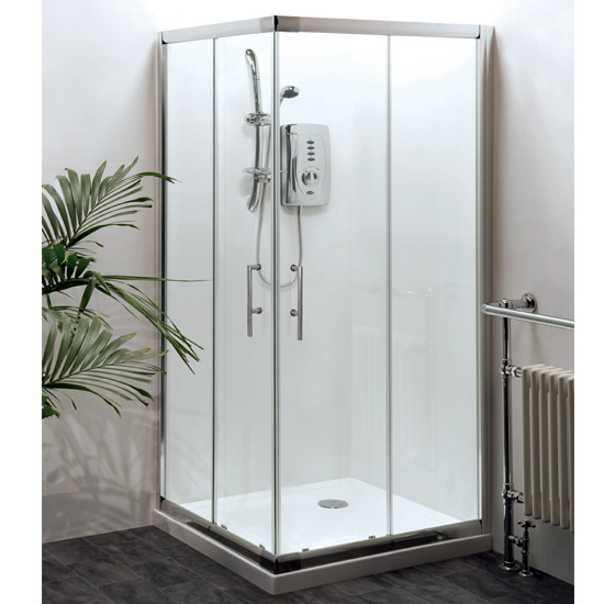 Aegean Corner Entry Square Shower Enclosure (Inc. Shower Tray + Waste) Large Image