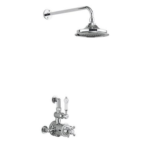 Burlington Avon Thermostatic Exposed Single Outlet Shower Valve with Fixed Head